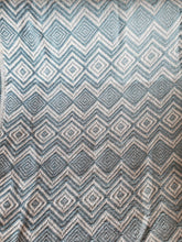 Duck Egg Blue and White Throw