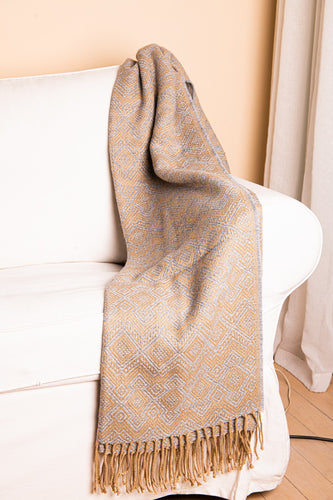 Grey and Gold Throw