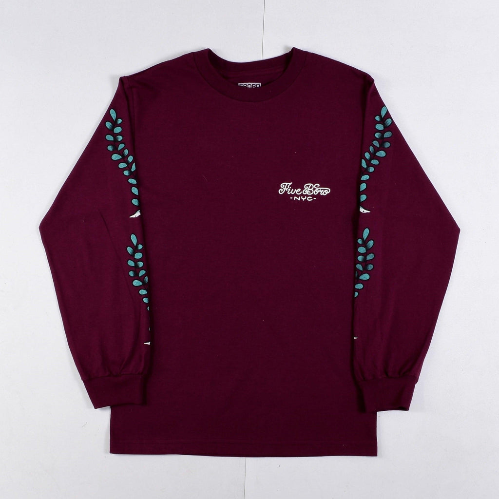 5 Boro - Catfish - Long Sleeve - Maroon
