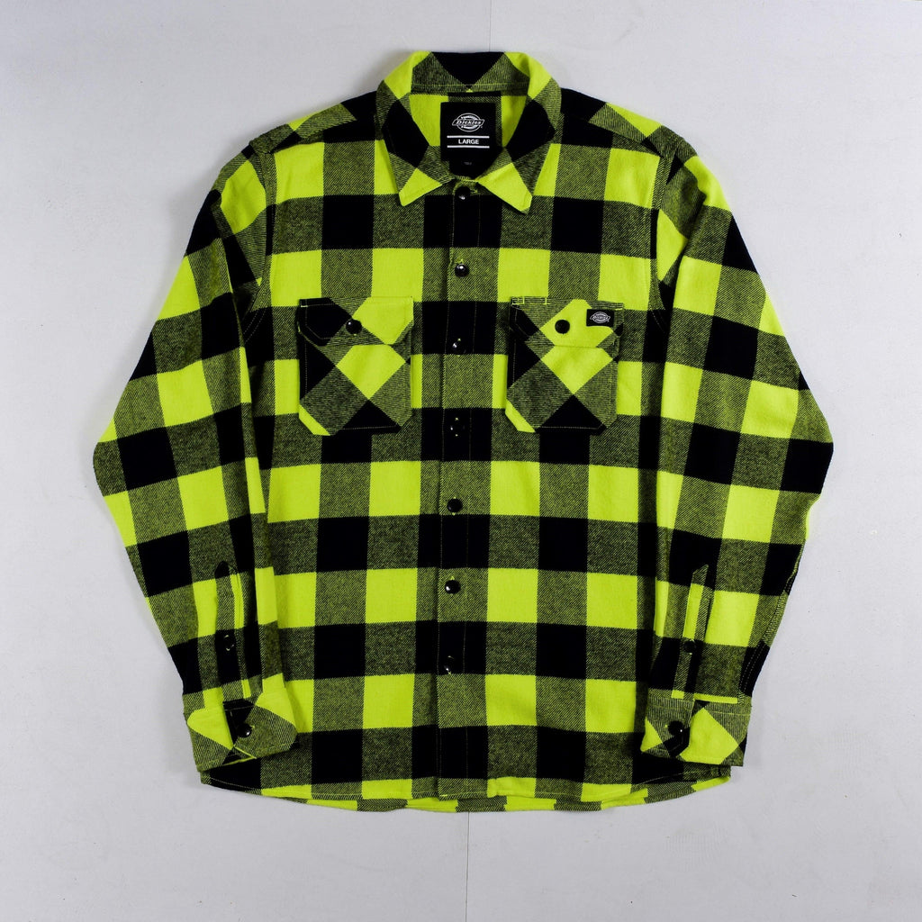 Dickies - Sacramento - Long Sleeve Flannel Shirt - Sulphur