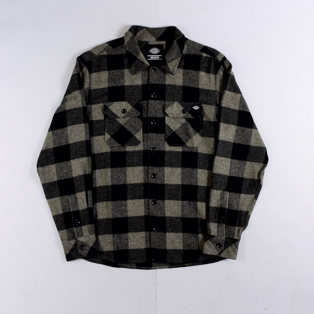 Dickies - Sacramento - Long Sleeve Flannel Shirt - Dark Grey