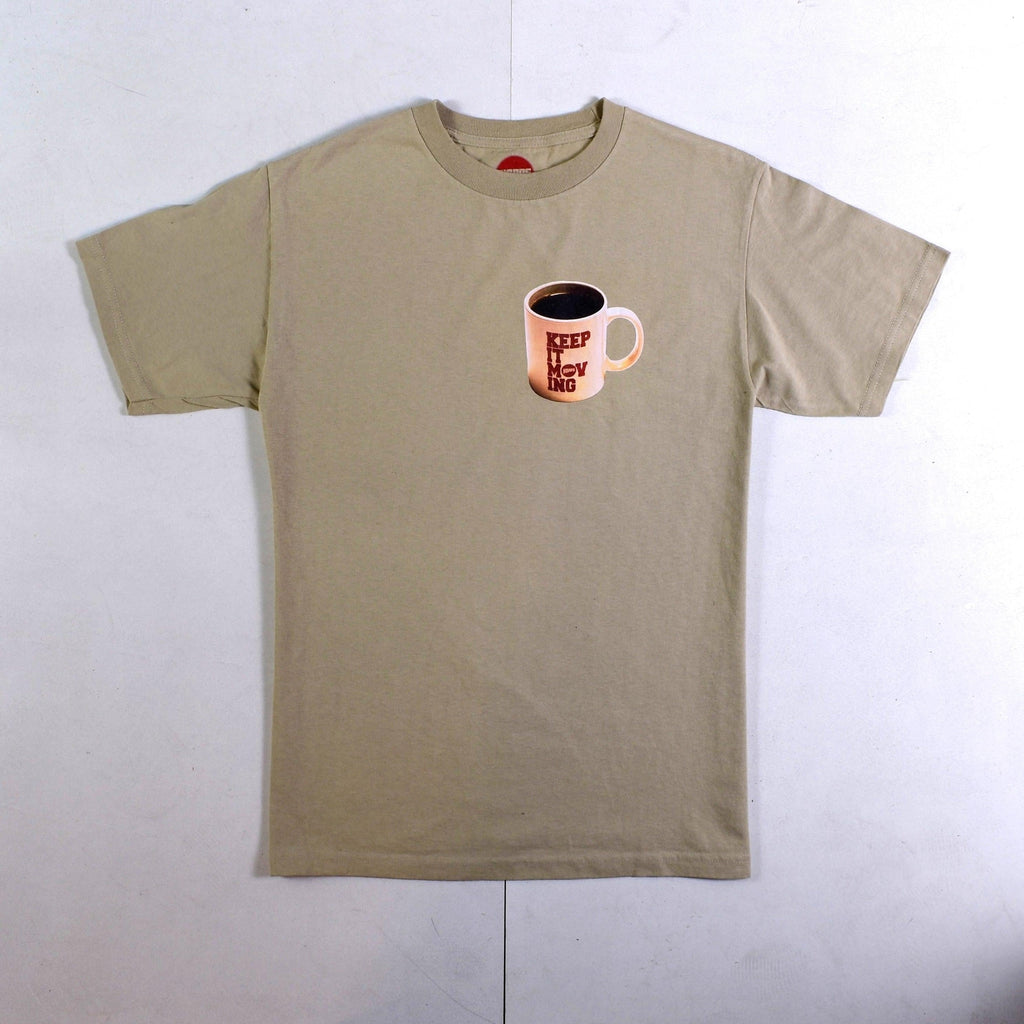 Hopps - Keep It Moving - Heavyweight Cotton - Tee - Coffee