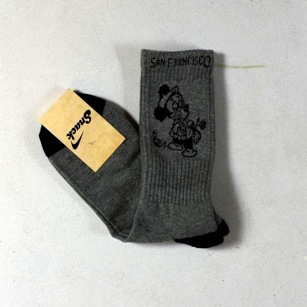 Snack Skateboards - Seeing the sights- Socks - Grey