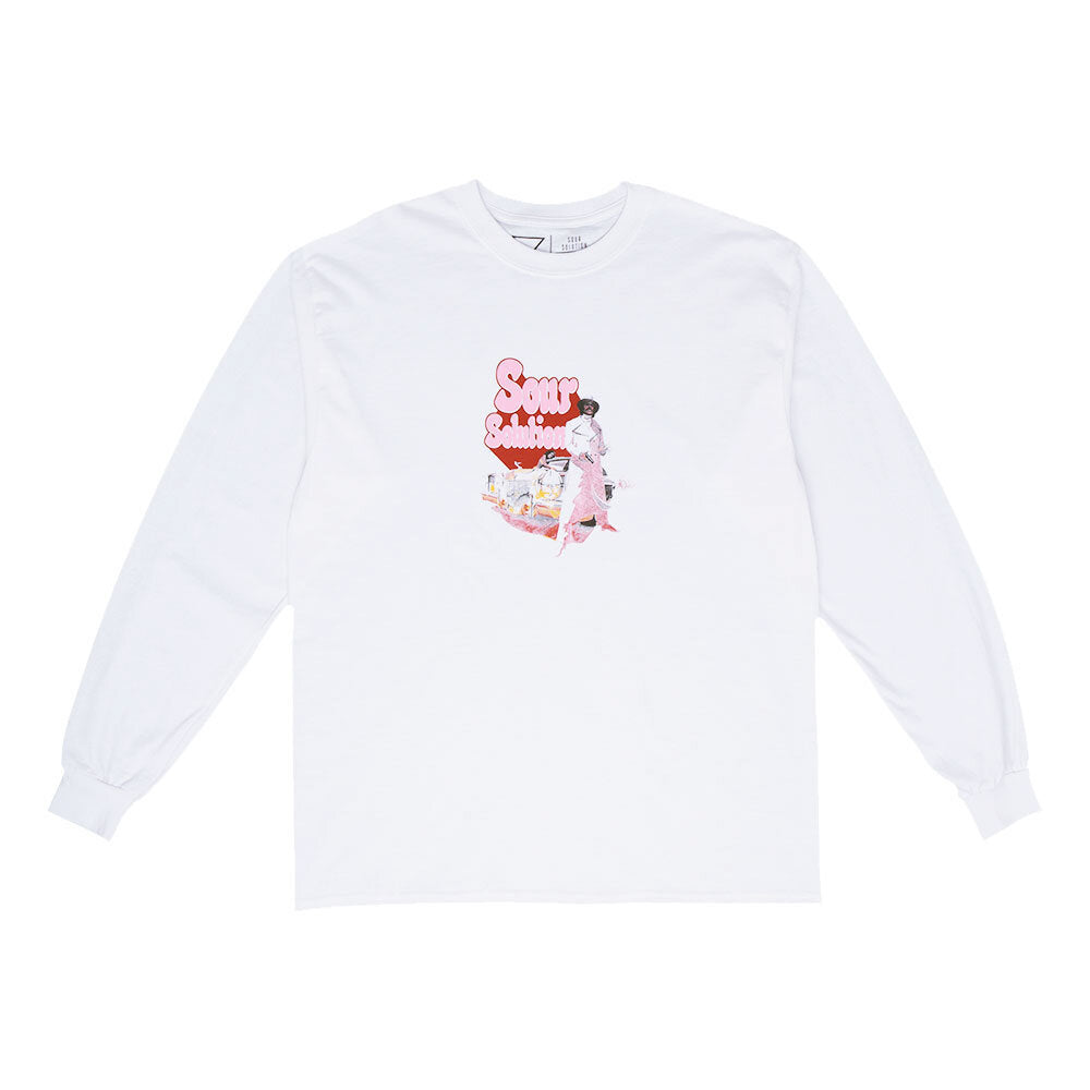 Sour Solution - Super Sour - Long Sleeve Tee - White