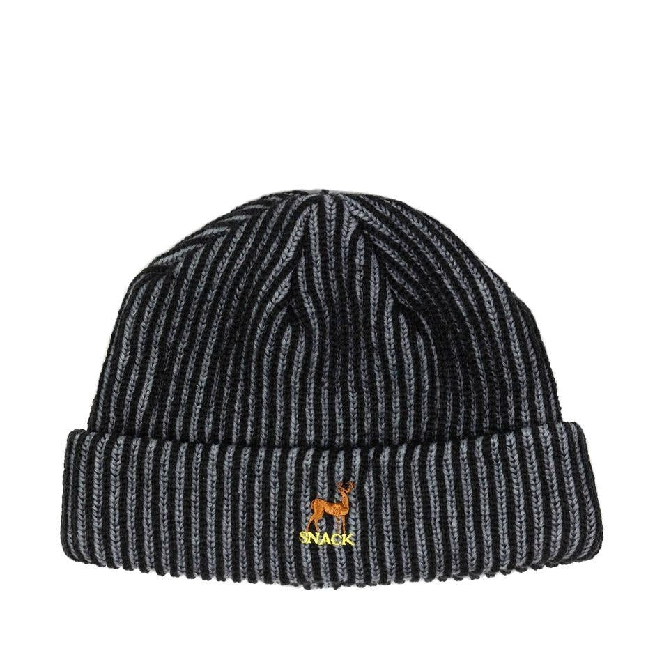 Snack Skateboards - Buck Beanie - Heavy rib knit - Charcoal/Black
