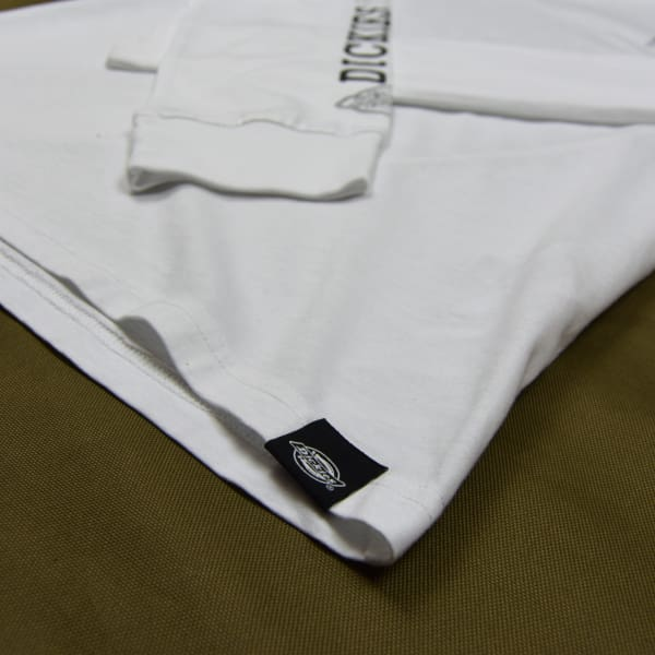 Dickies - Millwood - Long Sleeve Tee - White - Grind Supply Co -[city]
