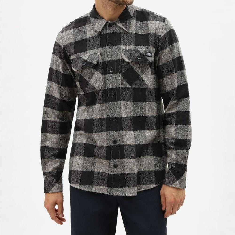 Dickies - Sacramento - Long Sleeve Flannel Shirt - Dark Grey - Apparel - Fast Shipping