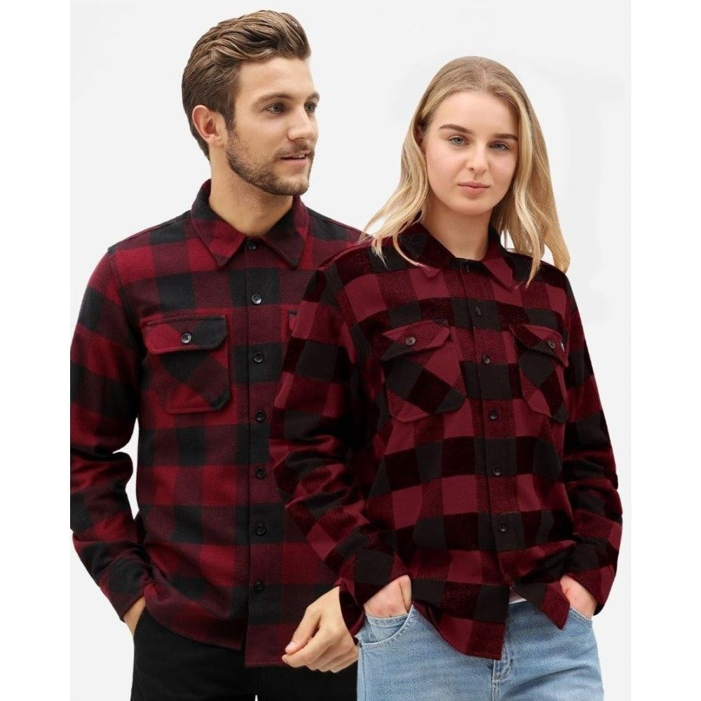 Dickies - Sacramento Long Sleeve Flannel Shirt - Maroon - Apparel - Fast Shipping