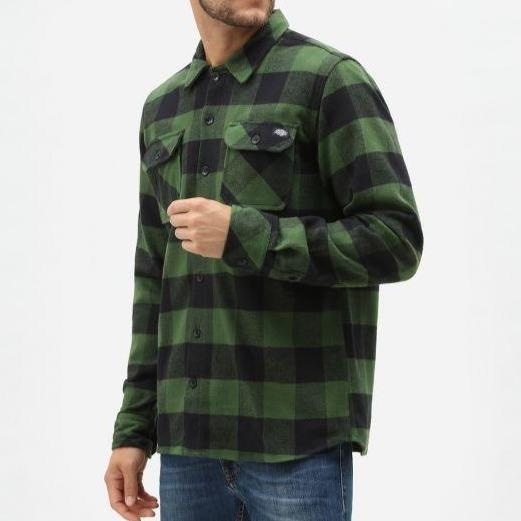 Dickies - Sacramento - Long Sleeve Flannel Shirt - Pine - Apparel - Fast Shipping