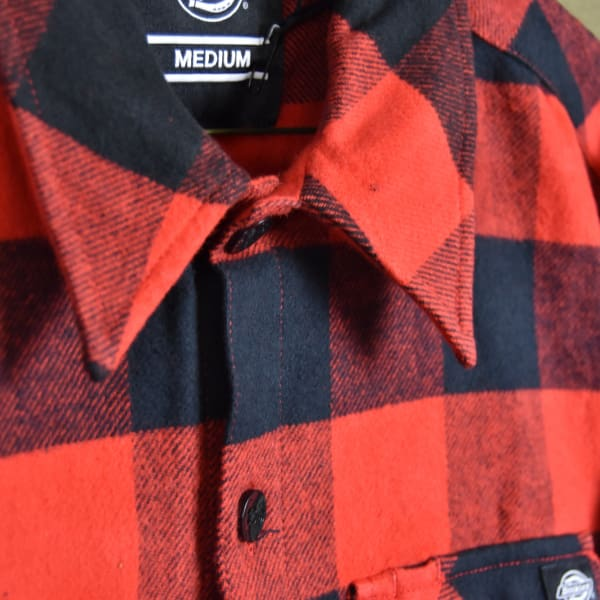 Dickies Sacramento Long Sleeve Flannel Shirt-Red & Black - Apparel