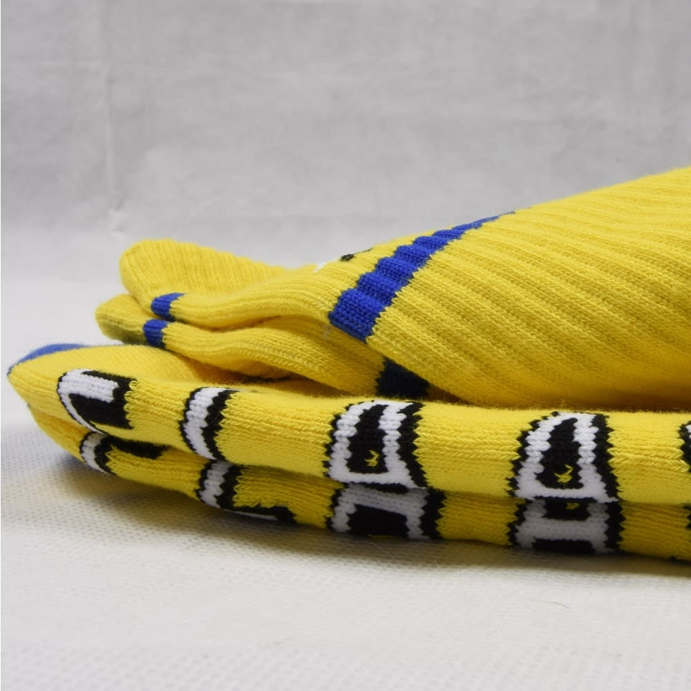 Flaash Apparel - F's Crew - Height Socks - Yellow - Fast Shipping