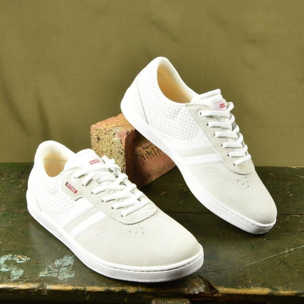 Globe Empire Skate Shoes White White Paul Hart Pro Colour Way. - Grind Supply Co -[city]