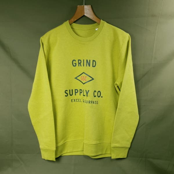 Grind Supply Co Utility Sweat Neppy Lemon Yellow - Apparel