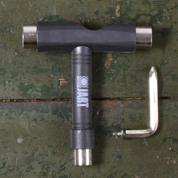 Jart T skate tool - Truck wheel and bolt sockets - removable allen key/ phillps driver - Tools