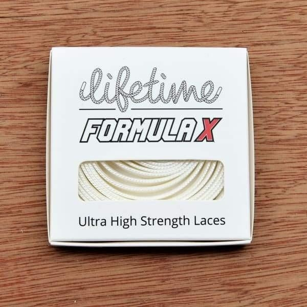 Lifetime Laces - Formula X - Flat - White - Fast Shipping