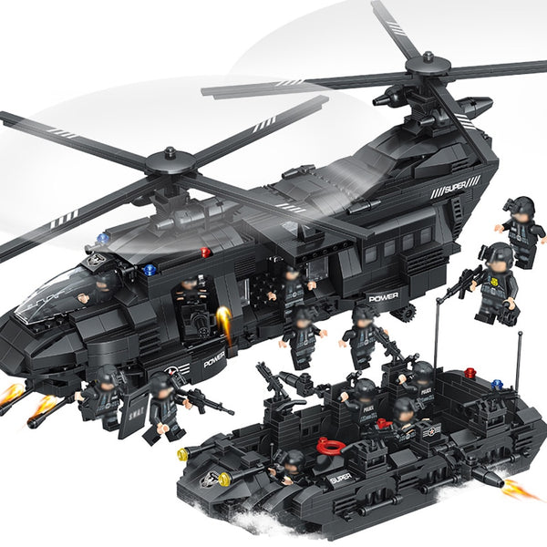 Model Building Blocks Kits SWAT Team