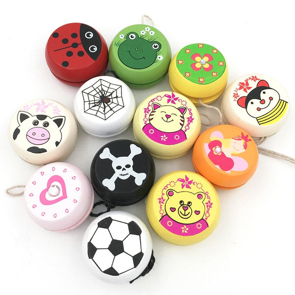 Cute Animal Prints Wooden Yoyo Toys
