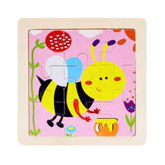 Wooden 3D Puzzle Jigsaw for Children Baby