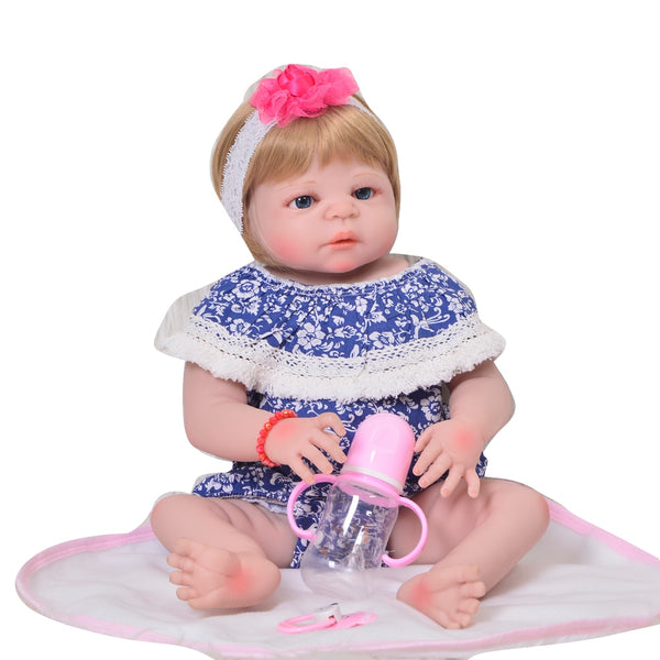 Fashion 23'' 57 cm Full Silicone Baby Doll