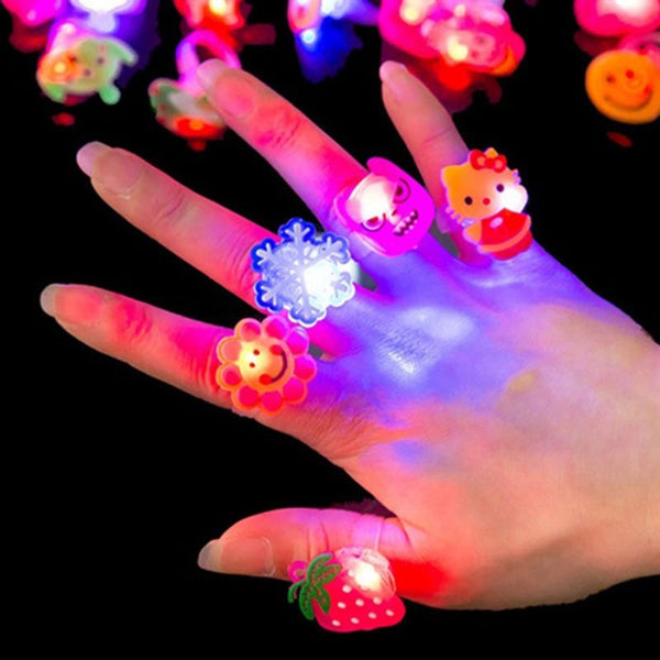 Novelty Luminous Rings LED Flash Finger
