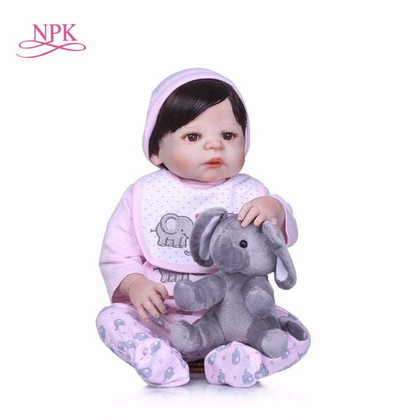 Silicone Body Girl Reborn Baby Girl Doll