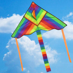 Rainbow Long Tail Triangle Nylon Kite