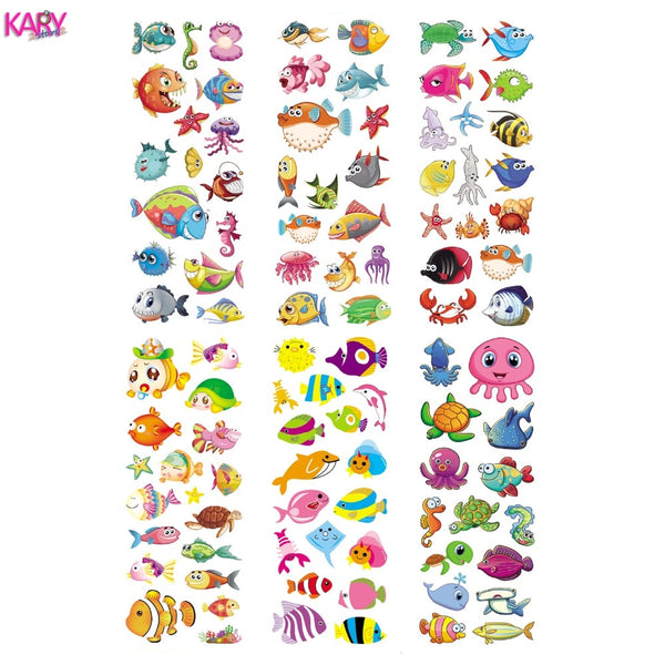 6 Sheets Ocean Marine Life Animals Aquatic