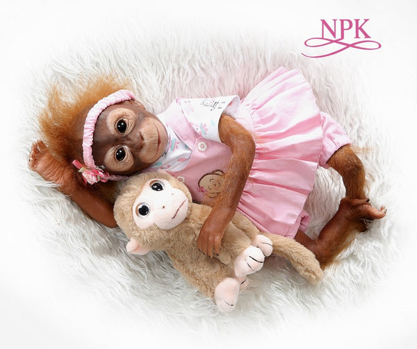 Monkey Newborn Doll Collectible Art High Quality