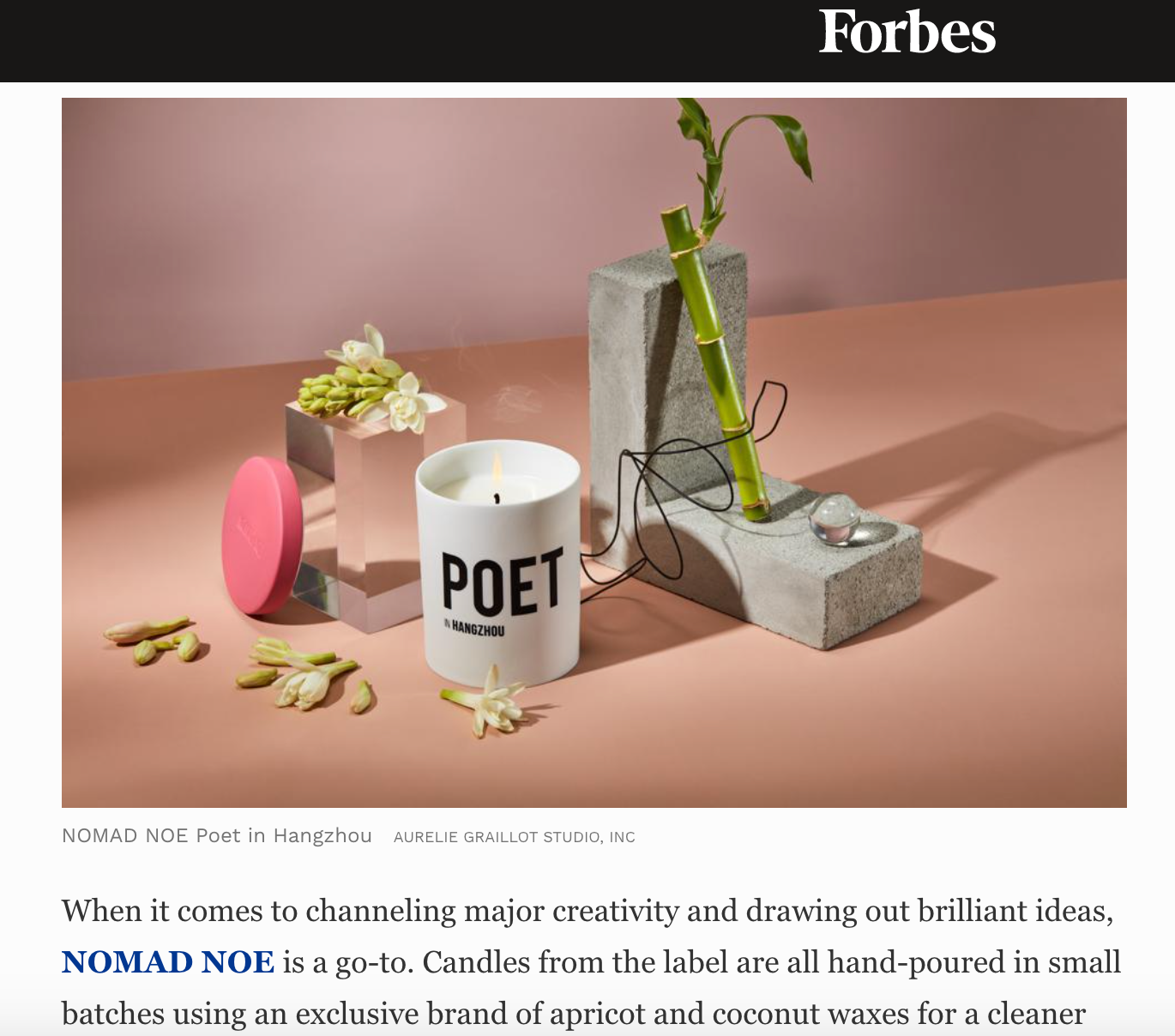 Nomad Noé in Forbes
