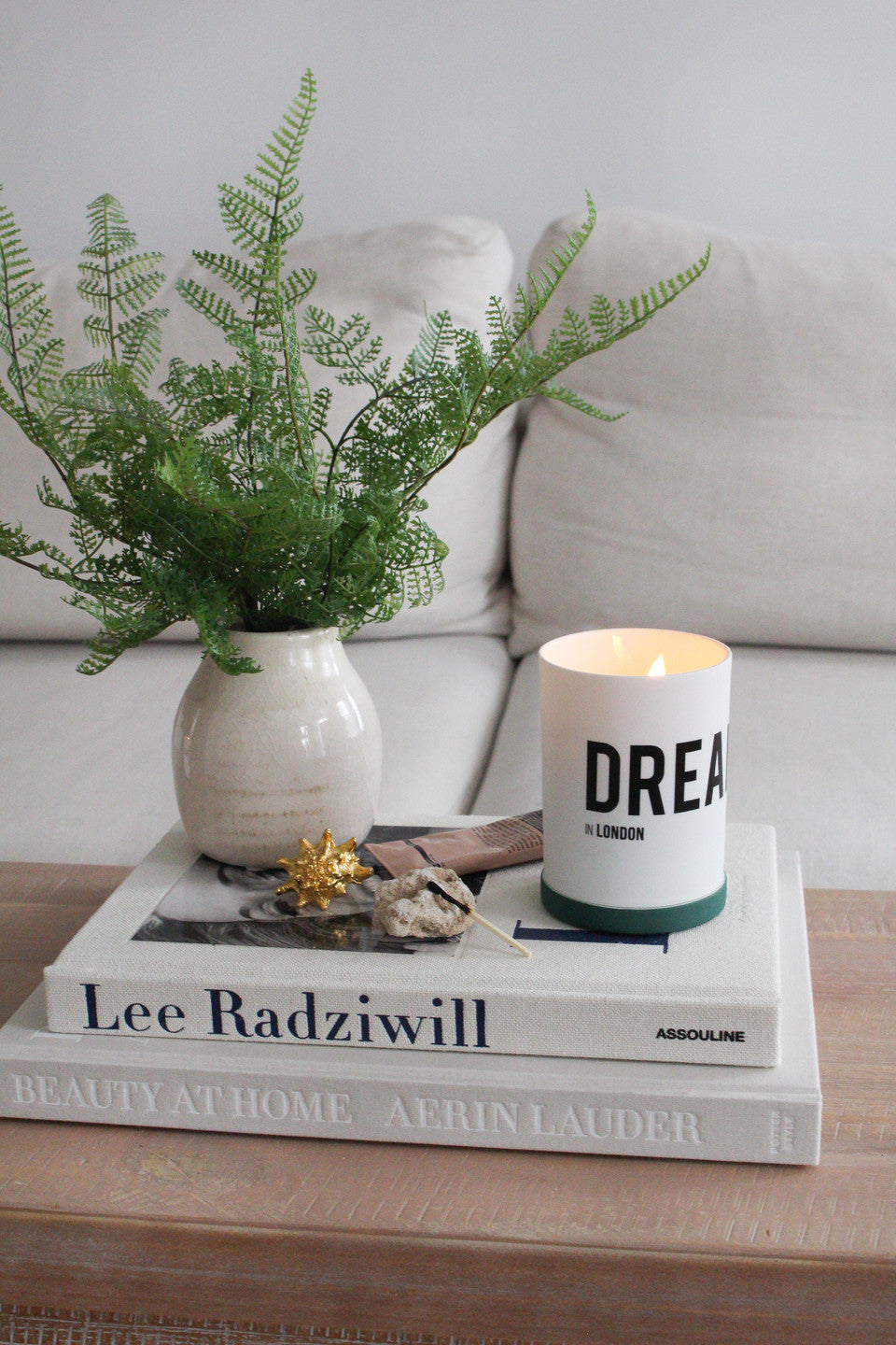Dreamer candle in living room