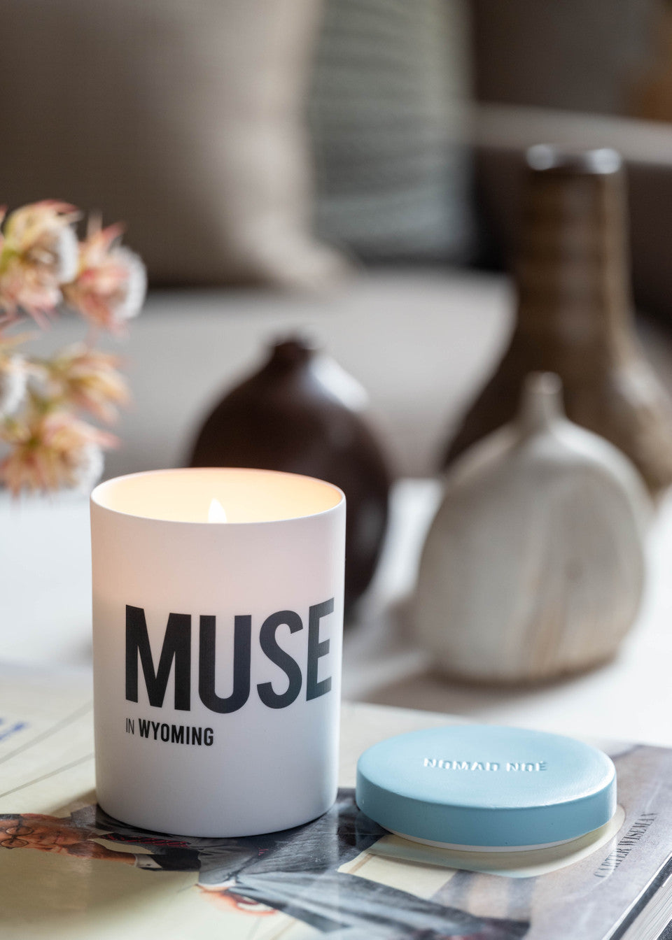 Muse candle in bathroom