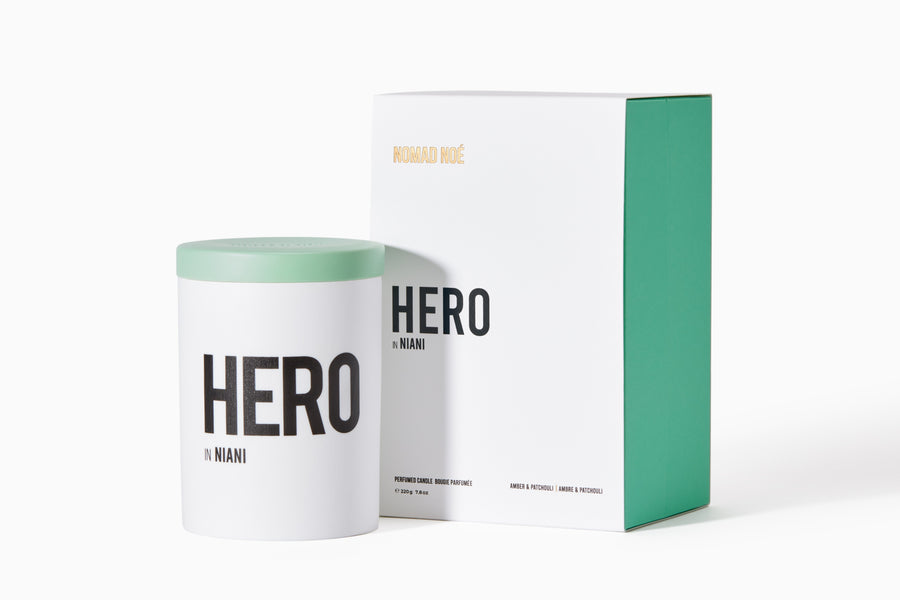 HERO in Niani - Amber & Patchouli candle - Nomad Noé