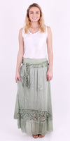 Long Silk Skirt