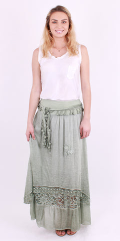Asymmetrical Raw Edge Skirt