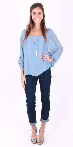 Long Sleeve Ruffle Top