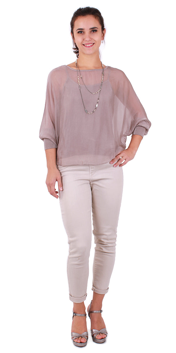 Two-piece Dolman Sleeve Blouse