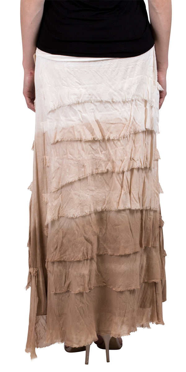 Silk Ombre Full Length Skirt