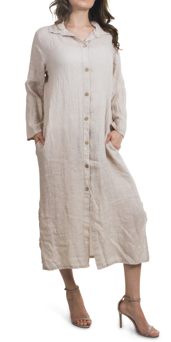 Linen Button Down Maxi Jacket or Dress