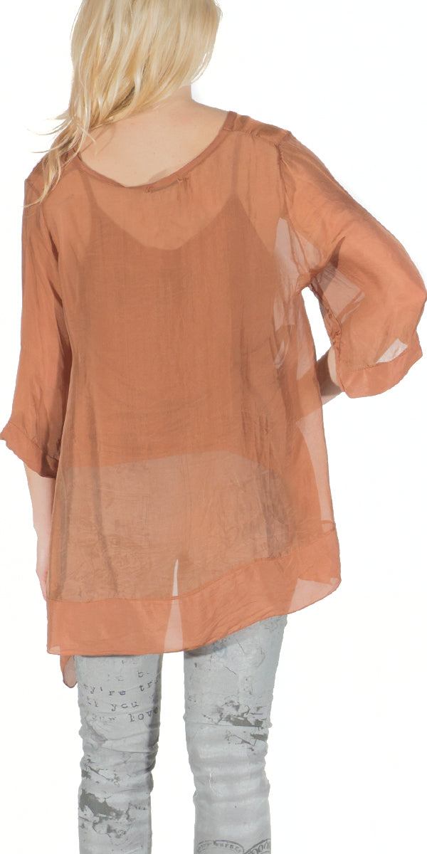 100% Silk Two Piece Blouse