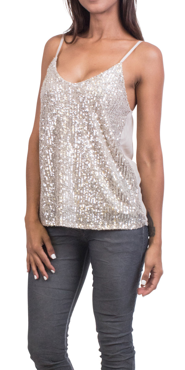 Front Sequin Tank