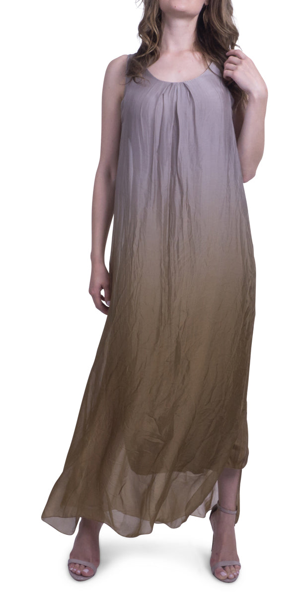 Maxi Dress with Ombre Dye