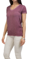 Double V Neck Cotton Top