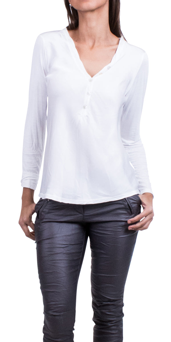 Button down V-neck Blouse