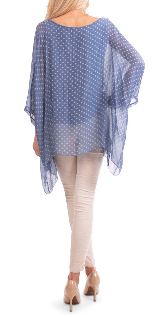 Kaftan With Small Dots Print