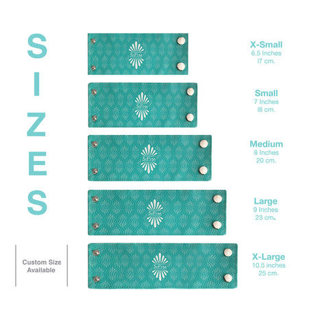 Size chart for Wrist Wallet - SoFree Creations