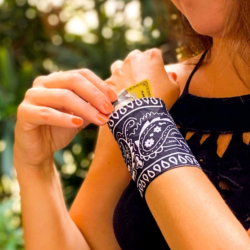 SoFree Creations Wrist Wallet Bandana Cuff Wrist Wallet | Multiple Colors