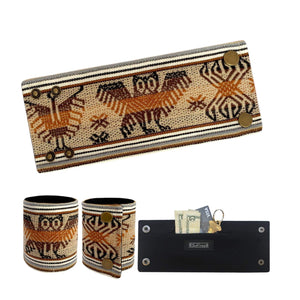 SoFree Creations Wrist Wallet Brown Tones Ethnic Peruvian Wrist Wallet