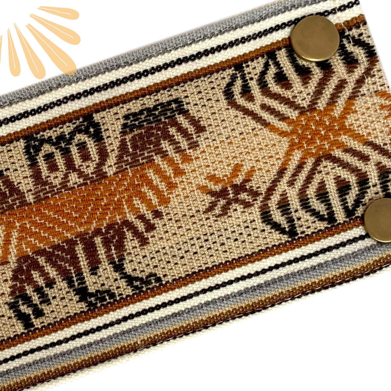 SoFree Creations Wrist Wallet Brown Tones Ethnic Peruvian Wrist Wallet BP22v3