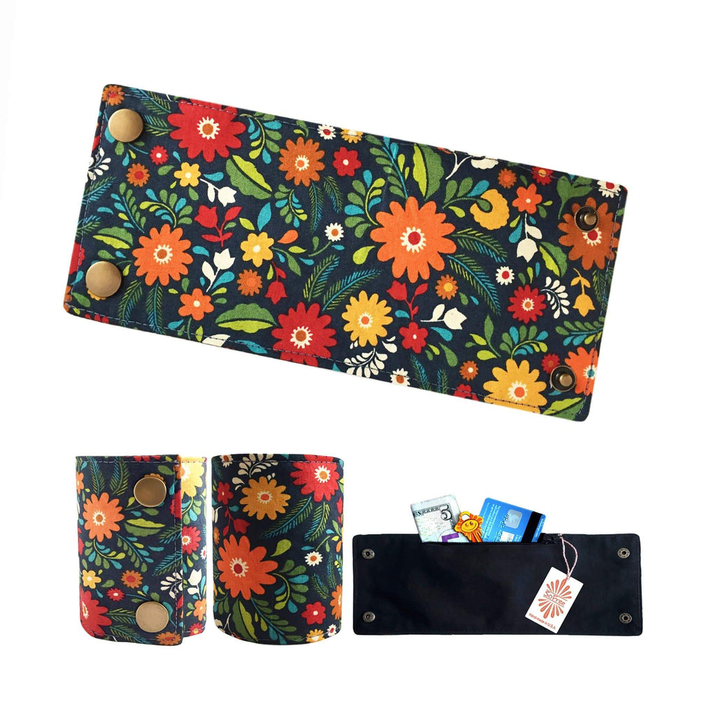 Colorful Vintage Floral Wrist Wallet By SoFree Creations