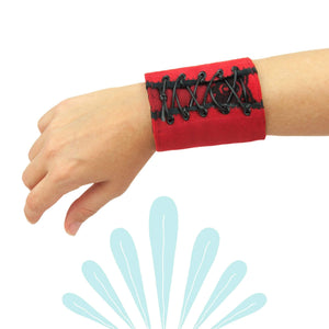 Red and Black Corset Style Wrist Wallet by SoFree Creations